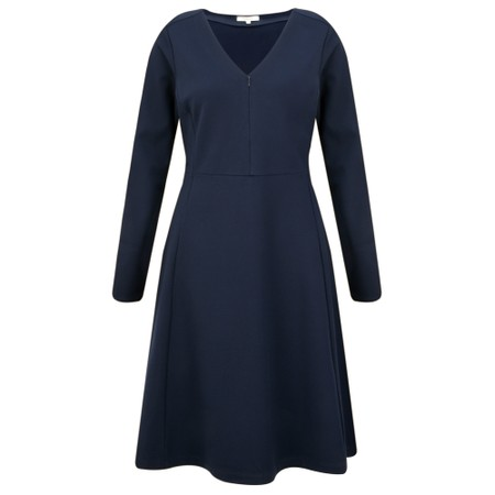 Sandwich Clothing Fit & Flare Jersey Dress - Blue