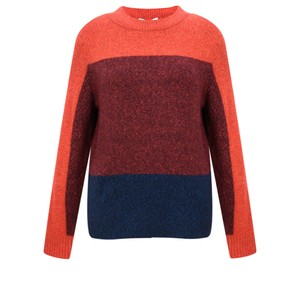 Sandwich Clothing Three Colour Stripe Jumper