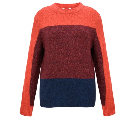 Sandwich Clothing Three Colour Stripe Jumper - Red