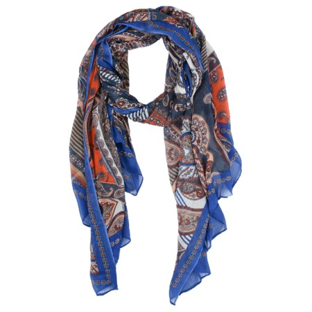 Sandwich Clothing Paisley Print Scarf - Blue