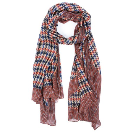 Sandwich Clothing Check Print Scarf - Red