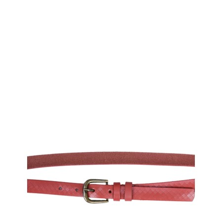 Sandwich Clothing Leather Belt - Red