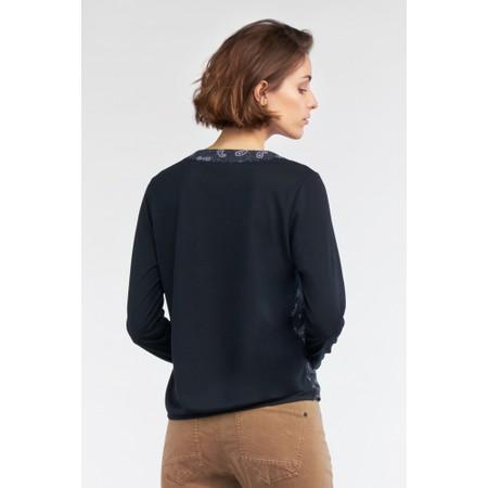 Sandwich Clothing Paisley Print V Neck Blouse - Blue