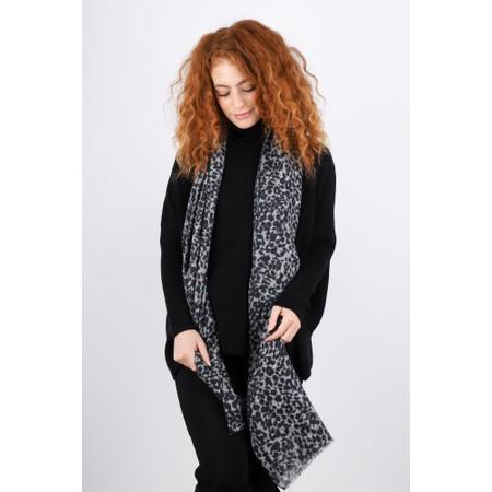 Masai Clothing Ankara Long Leopard Print Scarf - Blue