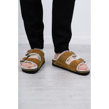 Birkenstock Arizona Shearling Classic Sandal Slipper - Beige