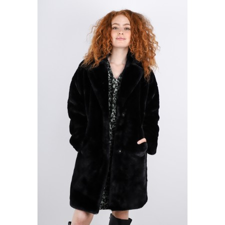 RINO AND PELLE Joela Faux Fur Coat - Black