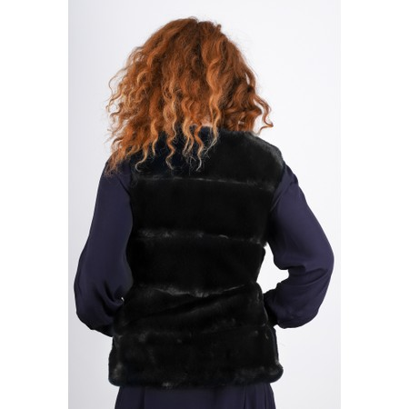 RINO AND PELLE Janay Faux Fur Gilet - Black