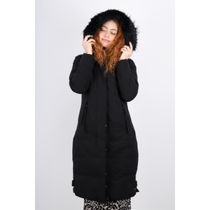RINO AND PELLE Tamma Longline Puffa Faux Fur Collar Coat