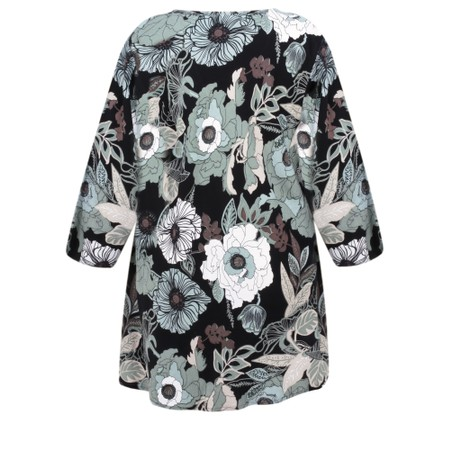 Masai Clothing Floral Print Kata Top - Blue