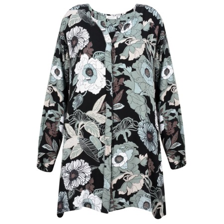 Masai Clothing Imam Floral Blouse Tunic  - Blue