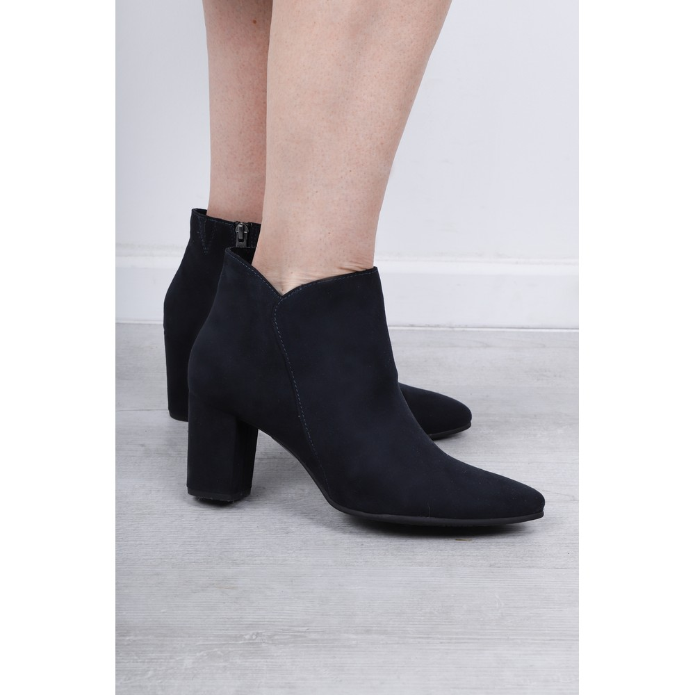 MARCO TOZZI CHUNKY HEEL JEWELLED BUCKLE ANKLE BOOTS Black