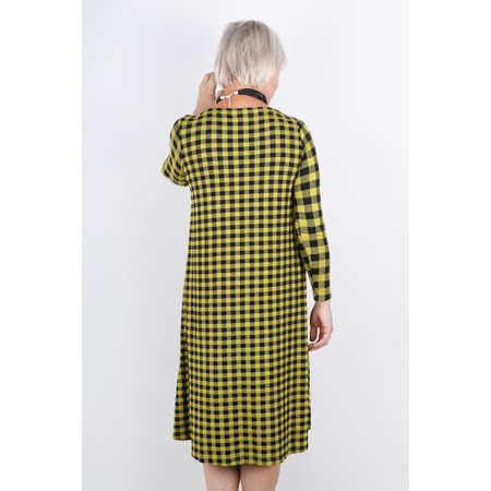 Sahara Double Check Jersey Dress - Yellow