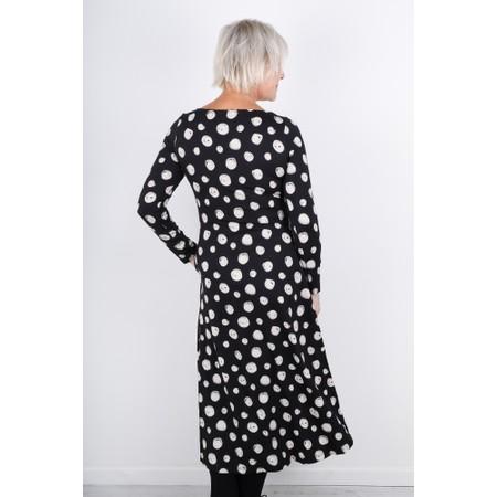 Sahara Watercolour Swirl Jersey Dress - Black