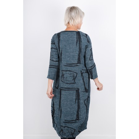 Sahara Abstract Print Tweed Dress - Black