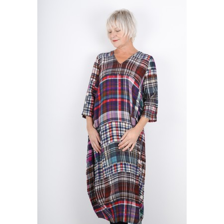 Sahara Multi Coloured Tartan Dress - Multicoloured