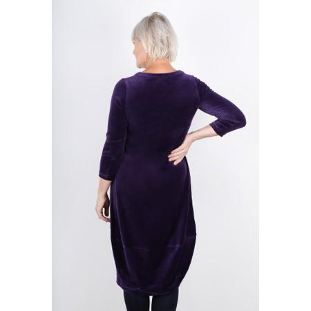 Sahara Velvet Jersey Bubble Dress - Purple