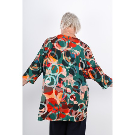Sahara Multi Circle Print Jersey Tunic - Multicoloured