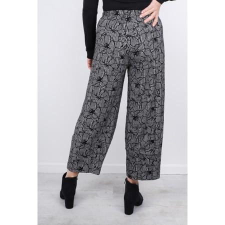 Sahara Linear Floral Check Trouser - Beige