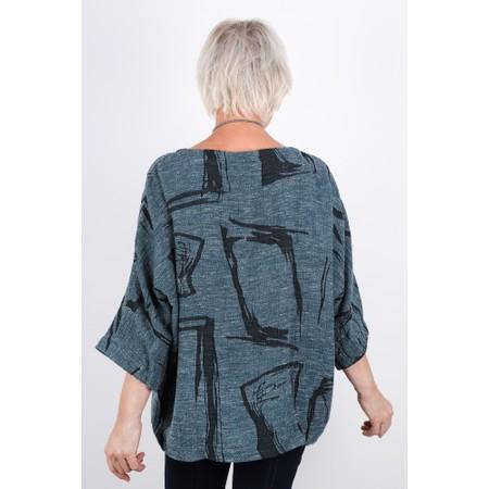 Sahara Abstract Print Tweed Top - Black