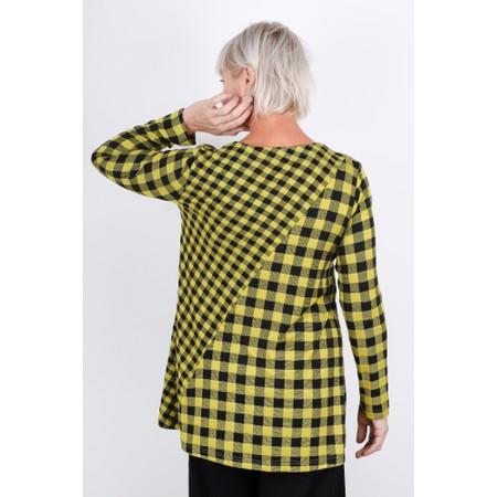 Sahara Double Check Jersey Tunic  - Yellow