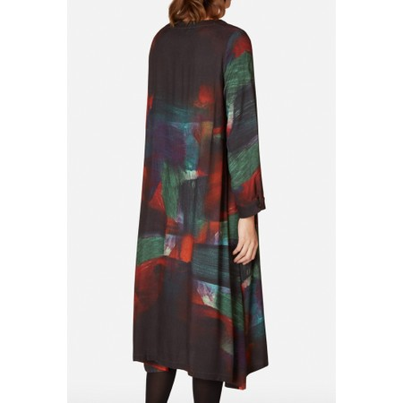 Sahara Painterly Block Print Dress - Multicoloured