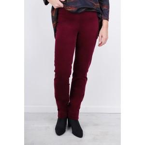 Robell  Marie Stretch Cotton Velvet Slim Full Length Trouser