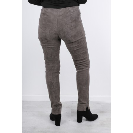 Robell  Rose Stretch Faux Suede Trouser - Brown