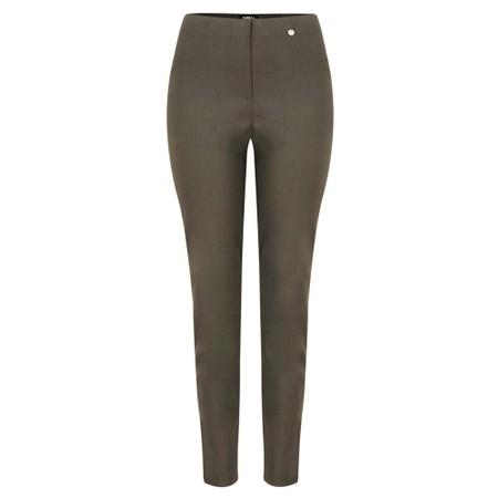 Robell  Bella 78cm Slim Fit Full Length Trouser - Brown