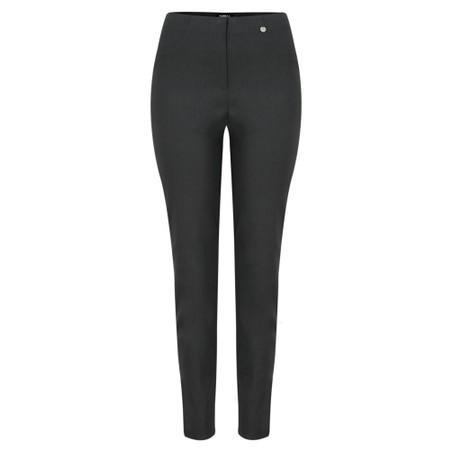 Robell  Bella 78cm Slim Fit Full Length Trouser - Grey