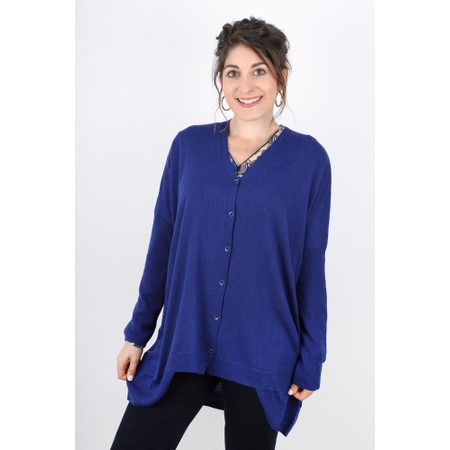 Sandwich Clothing Relaxed Draped Back Cardigan - Blue