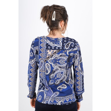 Sandwich Clothing Bold Paisley Print Blouse - Blue
