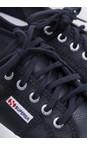 Superga Blue Navy 2750 Efglu Navy Classic Leather Trainer