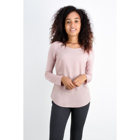 French Connection Crepe Light Solid Top - Pink