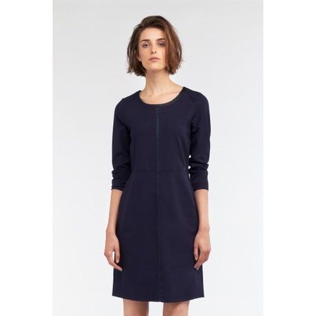 Sandwich Clothing Light Double Knitted Jersey Dress - Blue