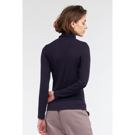 Sandwich Clothing Roll Neck Top - Blue