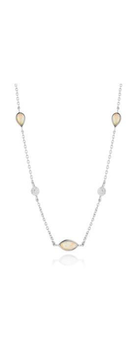 Ania Haie Opal Colour Necklace Silver