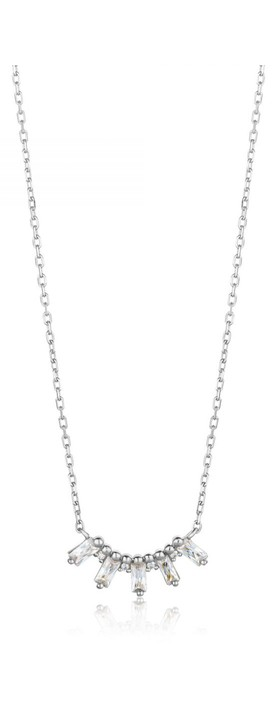 Ania Haie Glow Solid Bar Necklace Silver