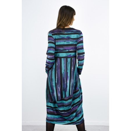 Sahara Horizon Stripe Print Dress - Multicoloured