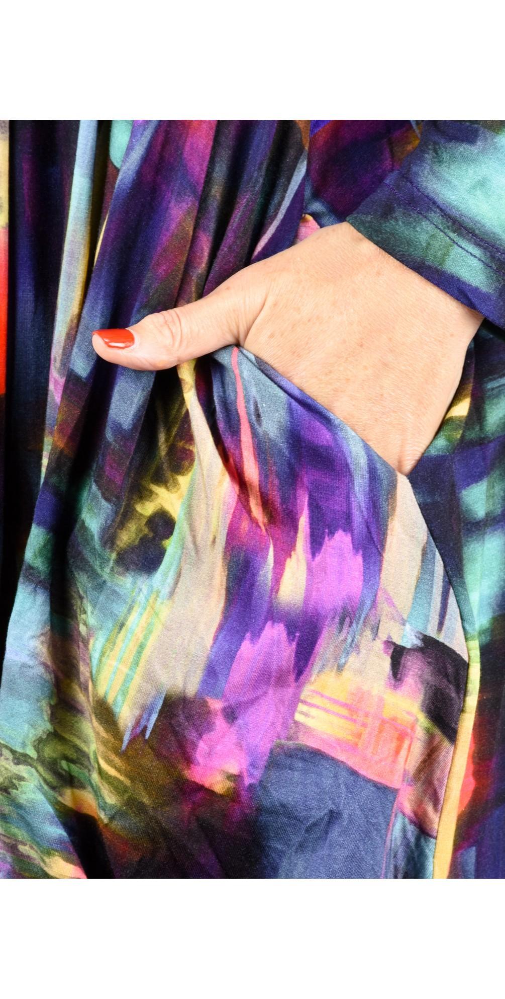 Brushstroke Print Bubble Dress main image