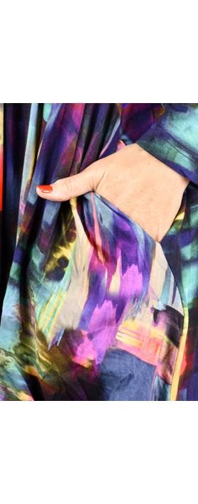 Sahara Brushstroke Print Bubble Dress Multi