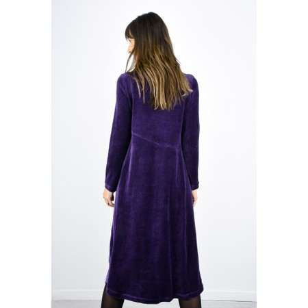 Sahara Velvet Jersey Cowl Neck Dress - Purple