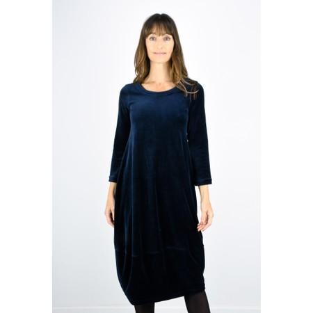Sahara Velvet Jersey Bubble Dress - Blue