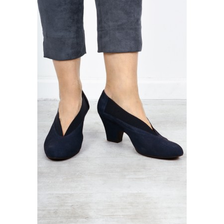 Gemini Label Shoes Brumabe Navy Suede Shoe - Blue