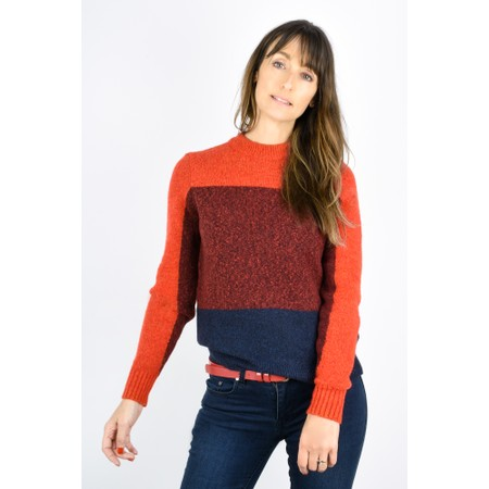 Sandwich Clothing Three Colour Stripe Jumper - Red