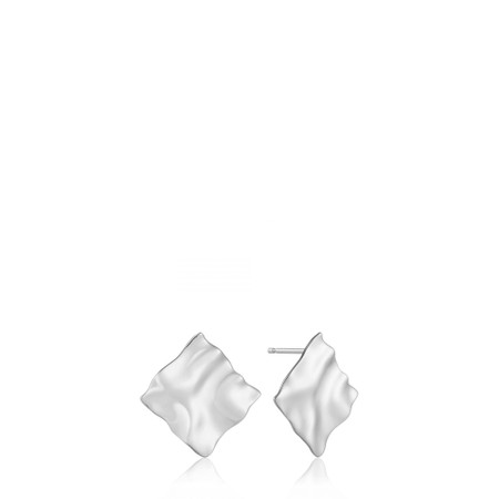 Ania Haie Crush Square Stud Earrings - Metallic