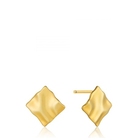 Ania Haie Crush Mini Square Stud Earrings - Gold