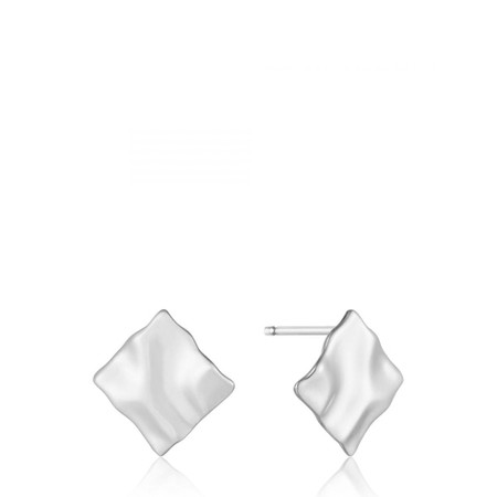 Ania Haie Crush Mini Square Stud Earrings - Metallic