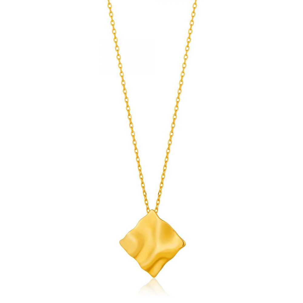 Ania Haie Crush Square Necklace Gold