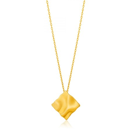 Ania Haie Crush Square Necklace - Gold