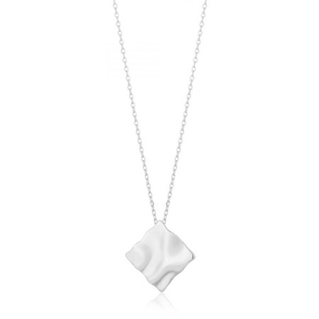 Ania Haie Crush Square Necklace - Metallic